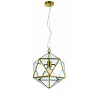 Telbix Lazlo Small Antique Brass Pendant Light