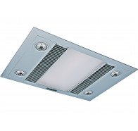 Martec Linear Silver 3-In-1 Bathroom Heat Light Exhaust Fan