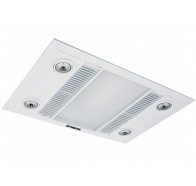 Martec Linear White 3-In-1 Bathroom Heat Light Exhaust Fan