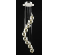 Fiorentino Grape LED Round Spiral Pendant