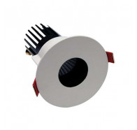 Telbix MDL 901 fixed LED downlight in white and black