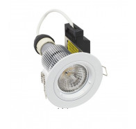 Martec Primary GU10 9W LED Fixed Downlight Kit, 60° (White) Dimmable Warm White Light