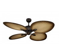"Martec Oasis 1300mm (52"") Old Bronze Balinese Tropical Palm Leaf Ceiling Fan"