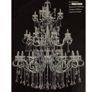 Fiorentino Prage-28l Chrome Crystal Chandelier