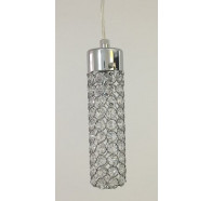 Fiorentino Sabin 1P Crystal Chrome Pendant Light