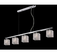 5 Light Crystal Bar Pendant Light