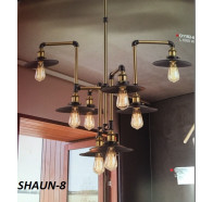 Fiorentino Shaun 8 Lights Bronze and Black Pendant