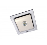 Martec Tetra Silver Square Bathroom Exhaust Fan with LED Light