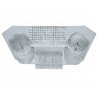V & M Tunnel Crystal Pendant Clear 20 Lights 800mm Large