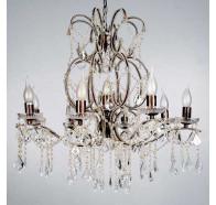 V & M Venice 8+1 Light Crystal Clear Pendent