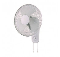 Ventair Zephyr II - 40cm Pull Cord 3 Speed Oscillating Wall Mounted Fan