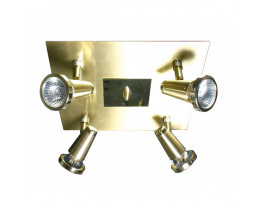 V & M Sepia 4 Light GU10 Plate Stain Brass spot light