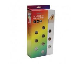 Telbix Deck 30 LED 10 pack RGB Decking Exterior Garden Light Remote Kit