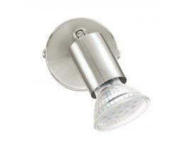 Eglo Buzz 1 Light Satin Nickel Adjustable LED Spotlights