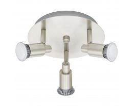 Eglo Eridan 3 Lights Gloss White Round Plate LED Spotlights