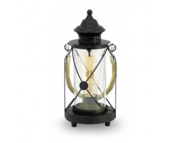 Eglo Bradford Black Lantern Table Lamp