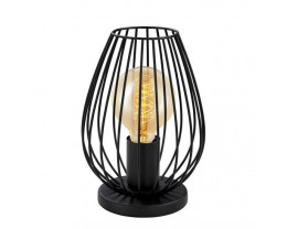 Eglo Newtown Vintage Black Wire Cage 1 Light Table Lamp