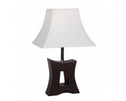V & M Tokyo Timber Table lamp White Shade