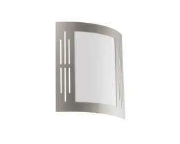 Eglo City Vertical Slits Stainless Steel Exterior Wall Light