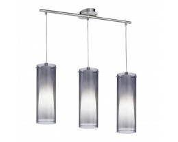 Eglo Pinto 3 Lights Frosted & Clear Glass Pendant Light