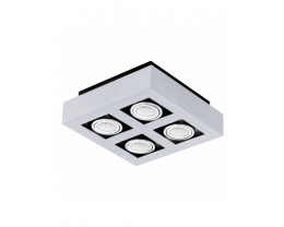 Eglo Loke 1 LED 4 Light Brushed Aluminium Gimble Surface Mounted Ceiling Light