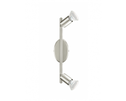 Eglo Buzz LED 2 Light Satin Nickel Adjustable Spotlight