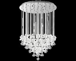 Eglo Pianopoli LED 43 Light Round Chrome Crystal Pendant Lights