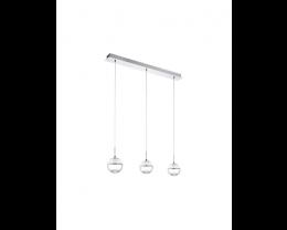 Eglo Montefio 1 LED 3 Light Bar Chrome & Clear Glass Pendant Light