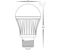 Havit 7w GSL E27 High Output Led Globes