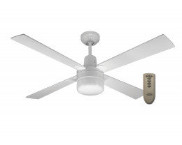 "Martec Alpha White 1200mm 48"" Ceiling Fan with Clipper Light & Remote"