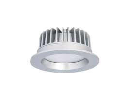 Atom AT9023 Round 9W Dimmable LED Downlight Silver Frame