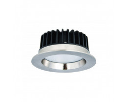 Atom AT9023 Round 9W Dimmable LED Downlight Satin Chrome Frame