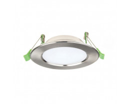 Atom AT9034 Round 12W Dimmable LED Downlight Satin Chrome Frame