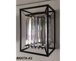 Fiorentino Brata 1 Light Black Crystal Wall Bracket