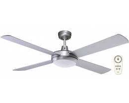 "Martec Lifestyle DC Brushed Aluminium 1300mm 52"" Ceiling Fan with LED Light & Remote"