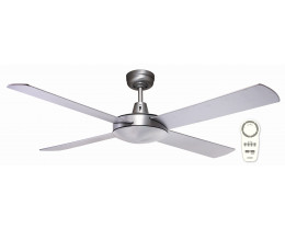 "Martec Lifestyle DC Brushed Aluminium 1300mm 52"" Ceiling Fan with Remote"