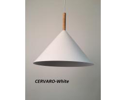 Fiorentino Cervaro 1 Light Aluminium Pendant Wood Rod