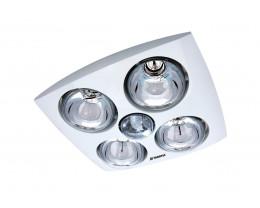 Martec Contour 4 White Bathroom 3-in-1 Heat Light Exhaust Fan