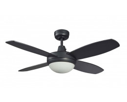 Martec Lifestyle 4 Blade Black Ceiling Fans with Light