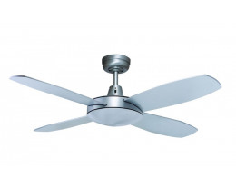Lifestyle 4 Blade Ceiling Fans Without Light in Brushed Aluminium Finish