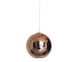 Fiorentino Eflex 1 Light Copper Glass Ball Pendant
