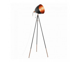 Eglo Chester Black and Copper Color Vintage Tripod Dome Head Floor Lamp