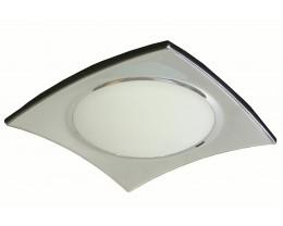 V & M Faro Chrome 2 Light Oyster Lights
