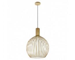 V & M Gabbia Scandinavian Look Large Wood Pendant