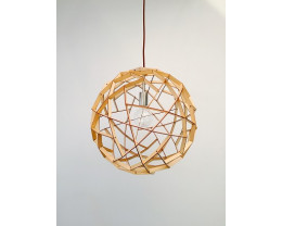 Fiorentino Geogro 1 Light Wood Veneer Pendant