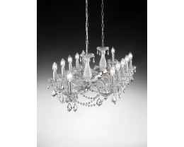 Fiorentino Graz 12 Light Crystal Pendant