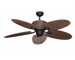 Martec Hamilton 1300mm Old Bronze 5 Palm Leaf Blades Ceiling Fan
