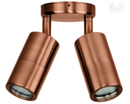Havit HV1317 MR16 Solid Copper Double Adjustable Wall Pillar Light