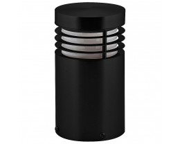 Havit HV1605 12V Matt Black Mini Bollard Light with Opal Diffuser