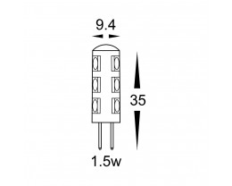 Havit HV9529 Warm White G4 12V LED Bi-Pin Globe